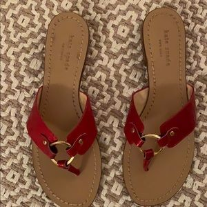 Red Kate Spade size 7 Sandals.